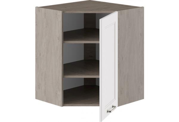 Шкаф навесной угловой с углом 45° (ОДРИ (Белый софт)) - фото 2