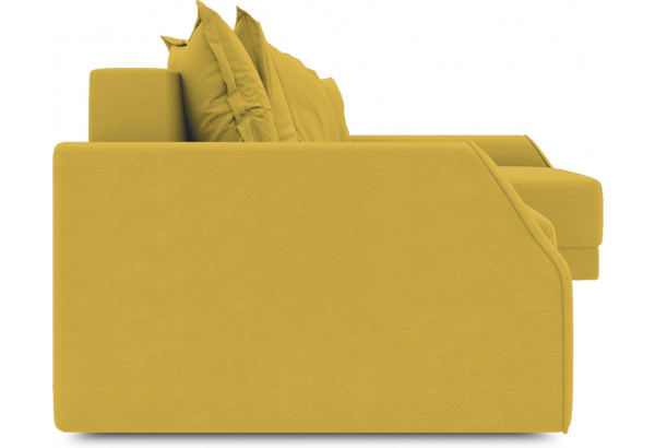 Диван угловой правый «Люксор Slim Т2» (Poseidon Curcuma (иск.замша) желтый) - фото 3