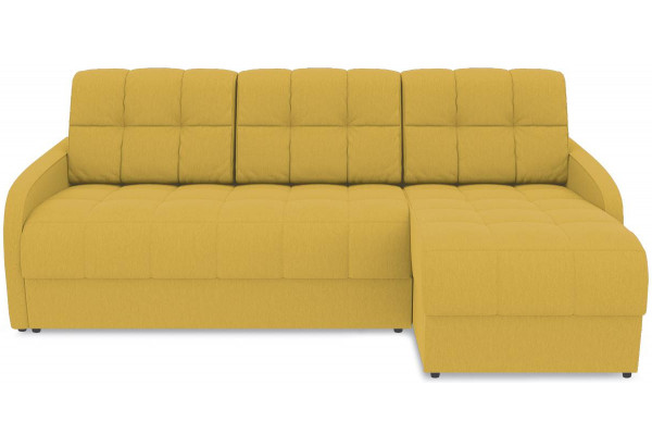 Диван угловой правый «Аспен Slim Т1» (Poseidon Curcuma (иск.замша) желтый) - фото 2