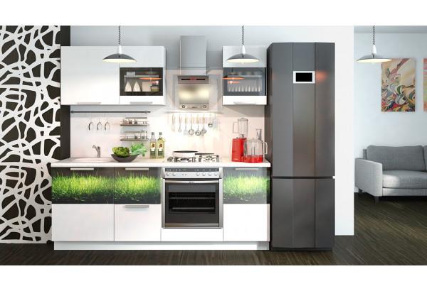 Кухонный гарнитур длиной - 210 см (со шкафом НБ) Фэнтези (Белый универс)/(Грасс) - фото 2