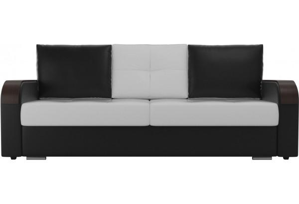 Прямой диван Мейсон Белый/Черный (Экокожа) - фото 2