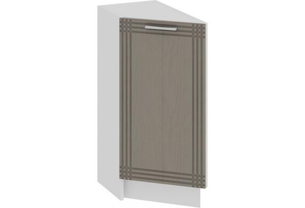 Шкаф напольный торцевой с одной дверью «Ольга» (Белый/Кремовый) - фото 1