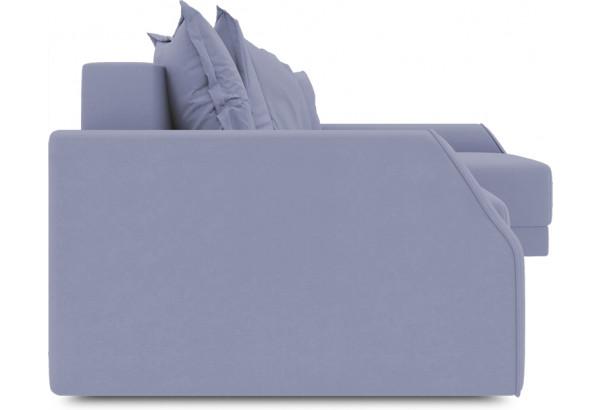 Диван угловой правый «Люксор Slim Т2» (Poseidon Blue Graphite (иск.замша) серо-фиолетовый) - фото 3