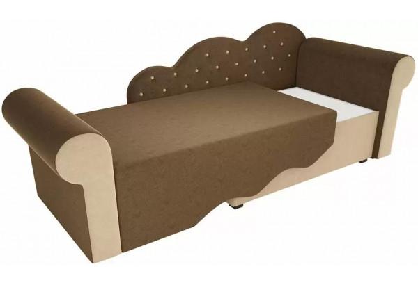 Детская кровать Тедди-2 Коричневый/Бежевый (Микровельвет) - фото 2