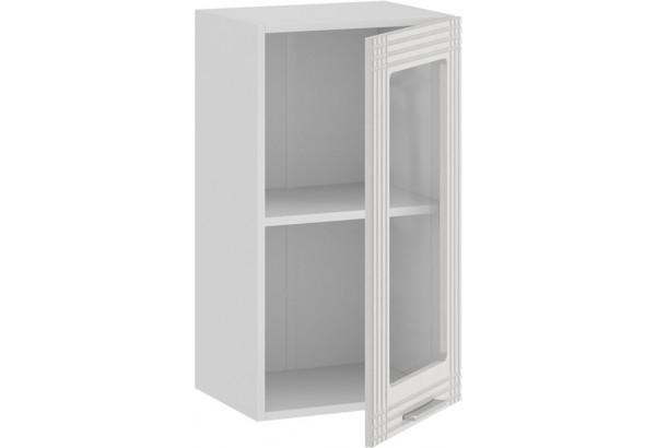 Шкаф навесной c одной дверью со стеклом «Ольга» (Белый/Белый) - фото 2