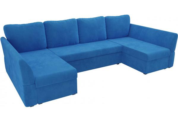 П-образный диван Гесен Голубой (Велюр) - фото 4