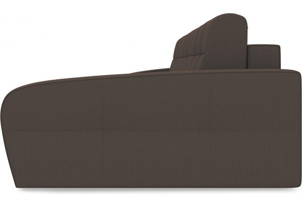 Диван угловой правый «Аспен Slim Т2» (Galaxy 04 (велюр) темно-коричневый) - фото 4