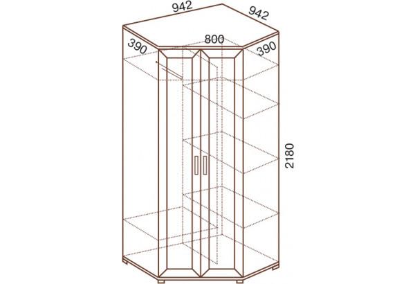 Шкаф угловой 2-х дверный равносторонний №146 - фото 2