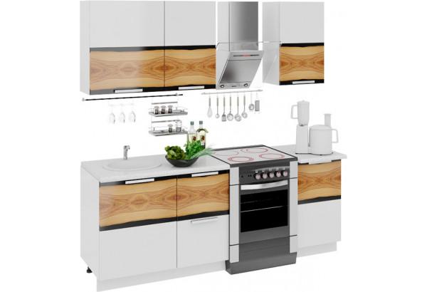 Кухонный гарнитур длиной - 210 см Фэнтези (Вуд) - фото 1