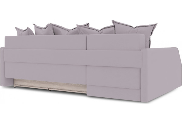 Диван угловой левый «Люксор Slim Т2» (Poseidon Pale Lavender (иск.замша) бледно-лавандовый) - фото 4