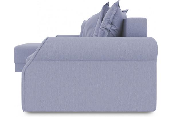 Диван угловой левый «Люксор Т1» (Poseidon Blue Graphite (иск.замша) серо-фиолетовый) - фото 3