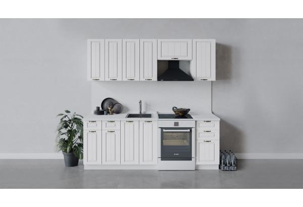 Кухонный гарнитур «Лина» длиной 220 см (Белый/Белый) - фото 1