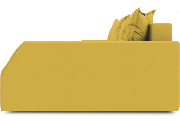 Диван угловой правый «Люксор Slim Т2» (Poseidon Curcuma (иск.замша) желтый) - фото 5