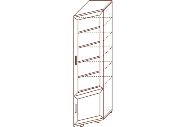 Шкаф для книг с полками №153 - фото 2