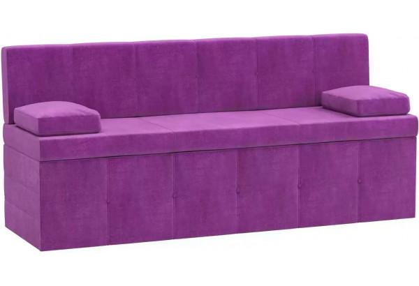Кухонный прямой диван Лео Фиолетовый (Микровельвет) - фото 1