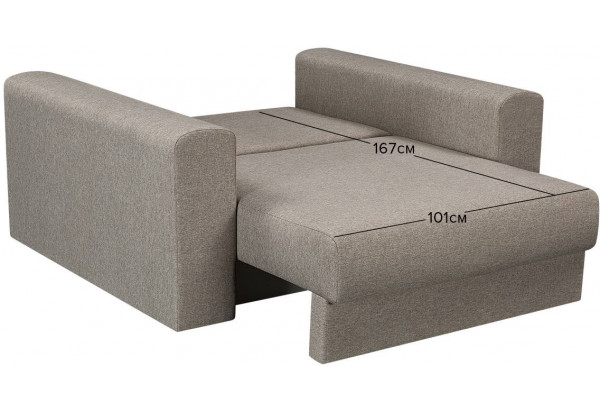 Кресло тканевое Медисон Вариант №1 100 см серый (Рогожка) - фото 3