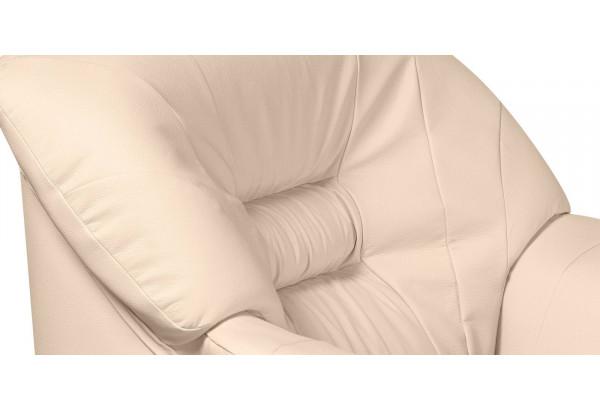 Кресло кожаное Женева Бежевый (Кожаное изделие) - фото 5