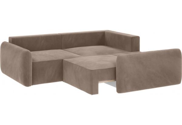 Модульный диван Портленд вариант №6 тёмно-бежевый (Микровелюр) - фото 3