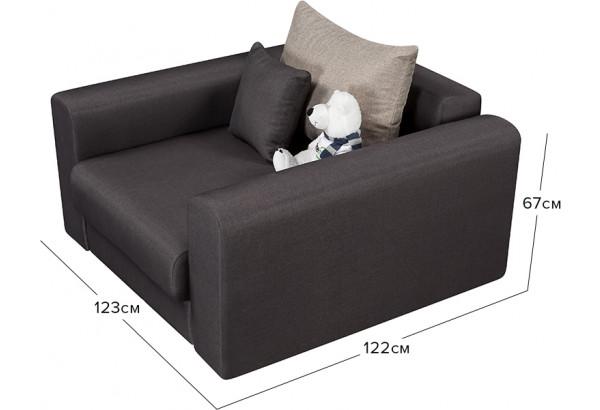 Кресло тканевое Медисон Вариант №2 80 см тёмно-серый (Рогожка) - фото 2