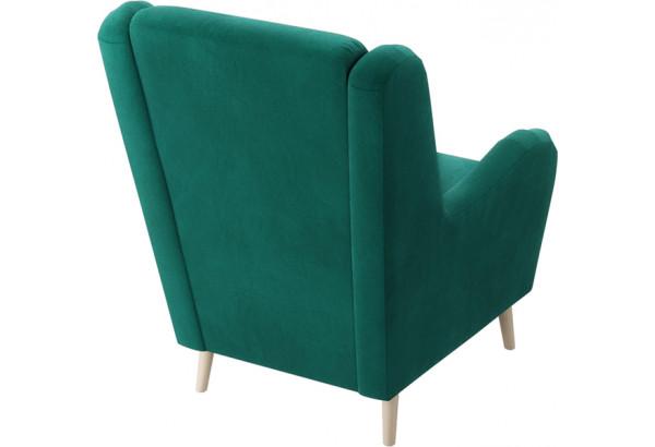 Кресло тканевое Грейс тёмно-зеленый (Велюр) - фото 3