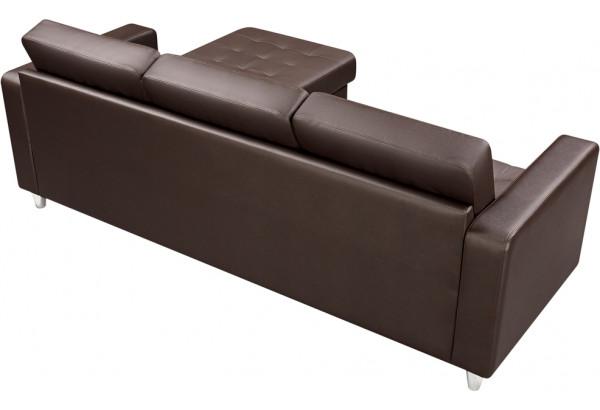 Диван кожаный угловой Камелот Шоколад - фото 5