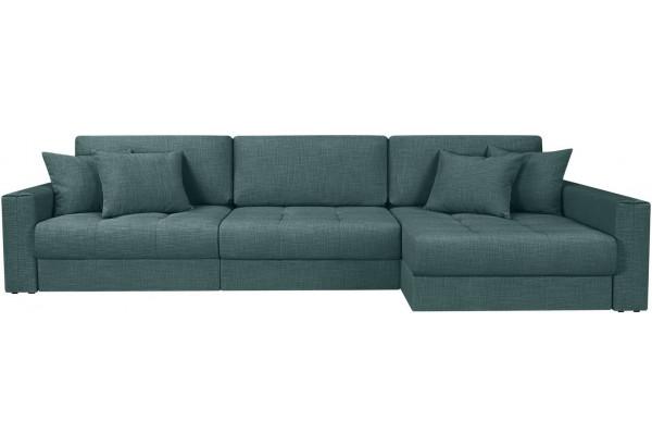 Модульный диван Брайтон вариант №3 голубой (Рогожка) - фото 4