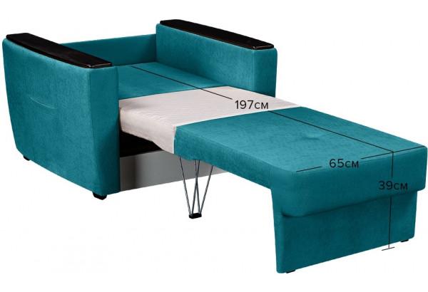 Кресло тканевое Майами бирюзовый (Велюр) - фото 3