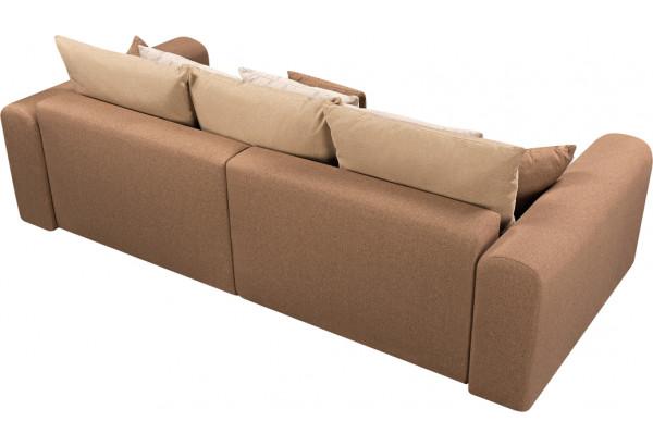 Диван тканевый прямой Медисон Вариант №4 коричневый (Рогожка) - фото 5