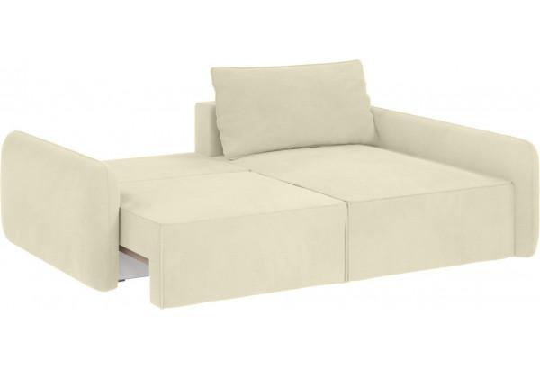 Модульный диван Портленд вариант №4 молочный (Микровелюр, правый) - фото 2