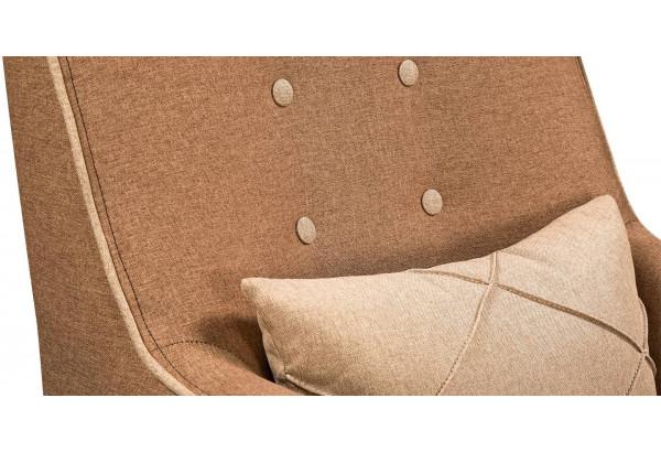 Кресло тканевое Флэтфорд коричневый/бежевый (Рогожка) - фото 7