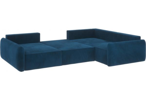 Диван тканевый угловой Портленд вариант №8 светло-синий (Микровелюр, правый) - фото 2