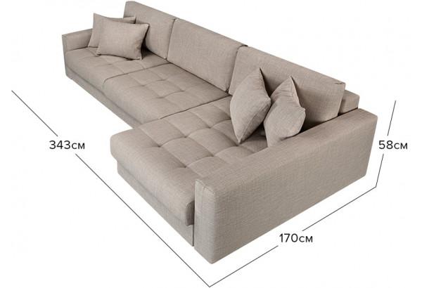 Модульный диван Брайтон вариант №3 бежевый (Рогожка) - фото 2