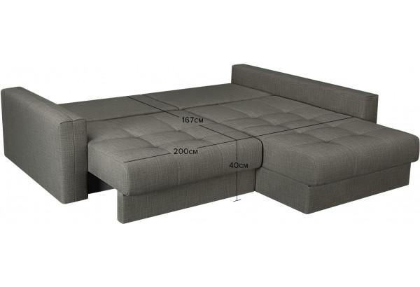 Модульный диван Брайтон вариант №2 серый (Рогожка) - фото 3