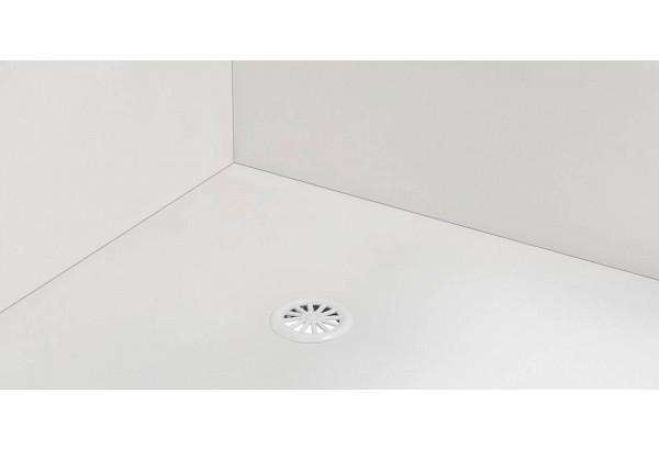 Диван тканевый угловой Портленд вариант №4 молочный (Микровелюр, левый) - фото 5