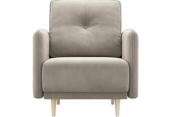 Кресло тканевое Голливуд серый (Велюр) - фото 2