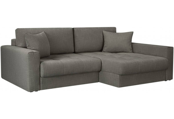 Модульный диван Брайтон вариант №2 серый (Рогожка) - фото 1