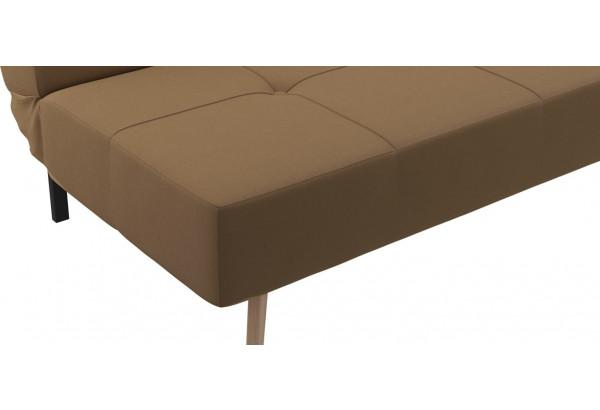 Диван тканевый прямой Касабланка коричневый (Рогожка) - фото 7