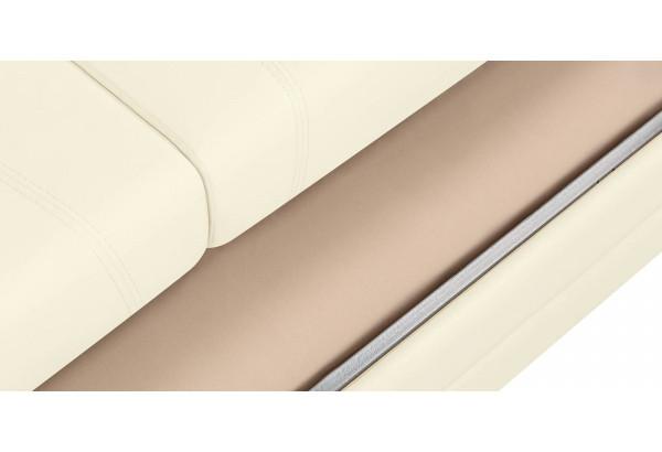 Диван тканевый угловой Бристоль молочный (Экокожа, левый) - фото 9