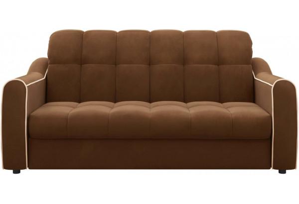 Диван тканевый прямой Флэтфорд-2 140 см темно-коричневый/бежевый (Велюр) - фото 2