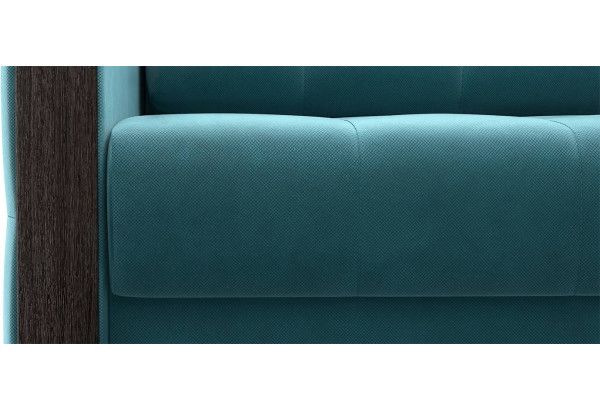 Диван тканевый прямой Валенсия-1 синий (Велюр) - фото 6