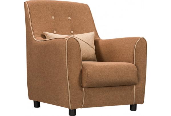 Кресло тканевое Флэтфорд коричневый/бежевый (Рогожка) - фото 1