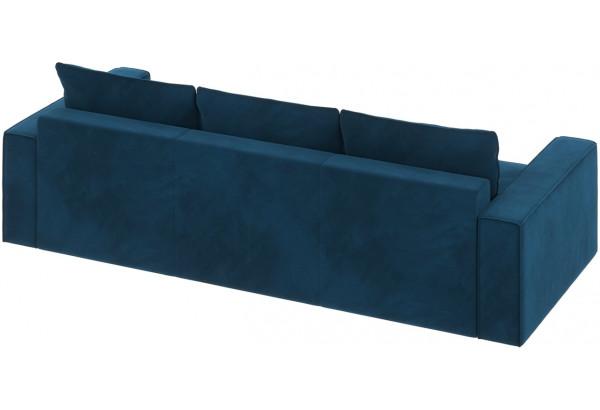 Диван тканевый прямой Корсо вариант №2 светло-синий (Микровелюр) - фото 4
