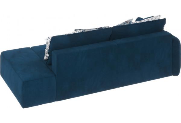 Диван тканевый прямой Портленд вариант №2 Светло-синий (Микровелюр, Левый) - фото 4