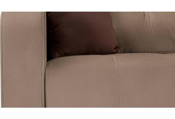 Диван тканевый угловой Ливерпуль коричневый (Велюр) - фото 10