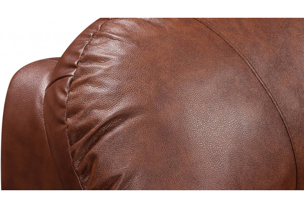 Диван кожаный угловой Эвита Коричневый (Кожаное изделие, левый) - фото 8
