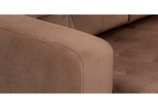 Диван тканевый прямой Камелот коричневый (Велюр) - фото 10