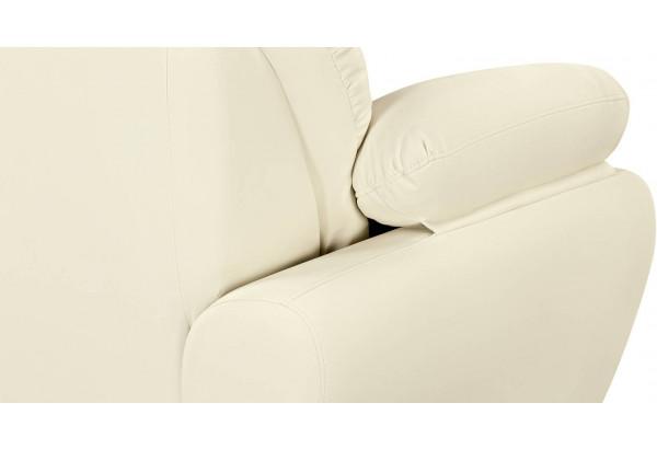 Диван тканевый прямой Эвита молочный (Экокожа) - фото 7
