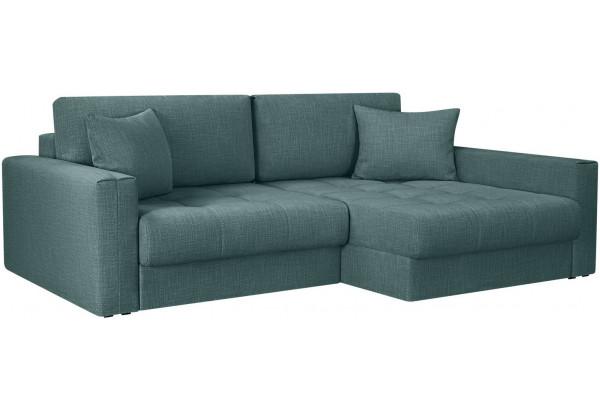 Модульный диван Брайтон вариант №2 голубой (Рогожка) - фото 1
