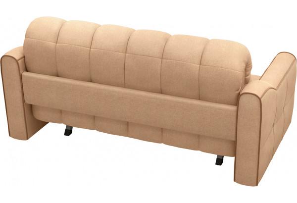 Диван тканевый прямой Флэтфорд-2 140 см бежевый/коричневый (Рогожка) - фото 3