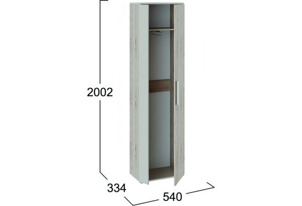 Шкаф распашной однодверный Нуар (дуб бонифацио/бежевый) - фото 3